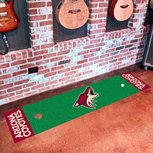 "Arizona Coyotes Putting Green Runner 18""x72"""