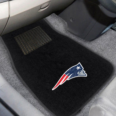 New England Patriots  2-Piece Embroidered Car Mat Set - 17
