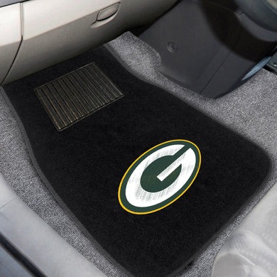 Green Bay Packers  2-Piece Embroidered Car Mat Set - 17