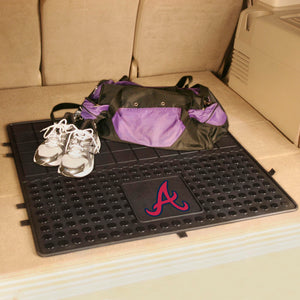 "Atlanta Braves Heavy Duty Vinyl Cargo Mat - 31""x31"""