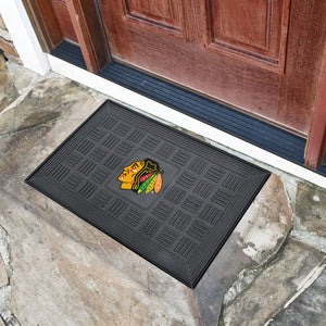 "Chicago Blackhawks Medallion Door Mats - 19""x30"""