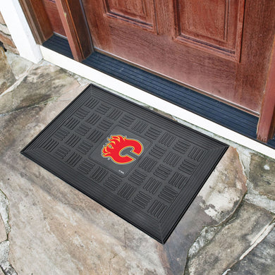 Calgary Flames Medallion Door Mats - 19