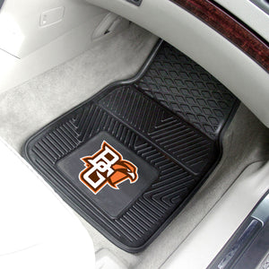 "Bowling Green State Falcons 2 Piece Vinyl Car Mats - 18""x27"""