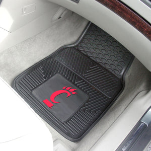 "Cincinnati Bearcats 2 Piece Vinyl Car Mats - 18""x27"""