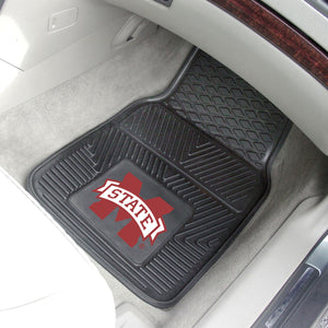 "Mississippi State Bulldogs 2 Piece Vinyl Car Mats - 18""x27"""