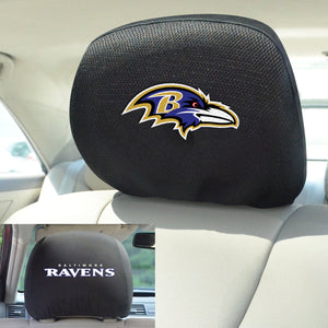 Baltimore Ravens Set of 2 Headrest Covers