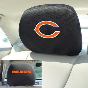 Chicago Bears Set of 2 Headrest Covers