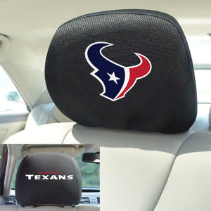 Houston Texans Set of 2 Headrest Covers