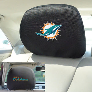 Miami Dolphins Set of 2 Headrest Covers