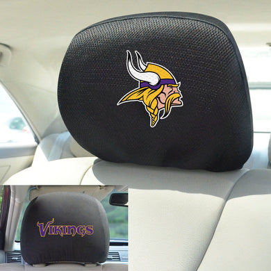 Minnesota Vikings Set of 2 Headrest Covers