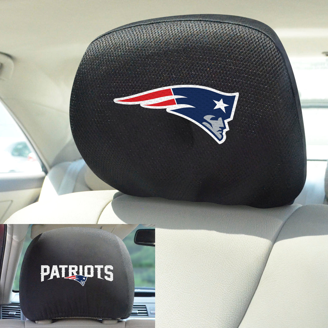 New England Patriots Set of 2 Headrest Covers