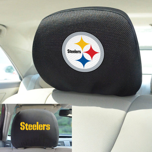 Pittsburgh Steelers Set of 2 Headrest Covers