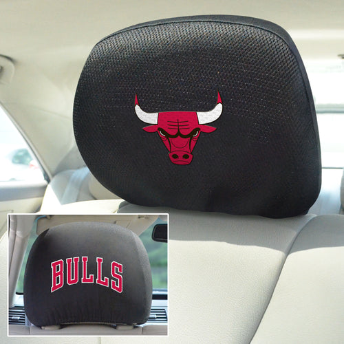chicago bulls head rest covers