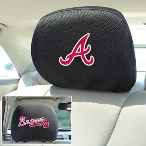 Atlanta Braves Set of 2 Headrest Covers