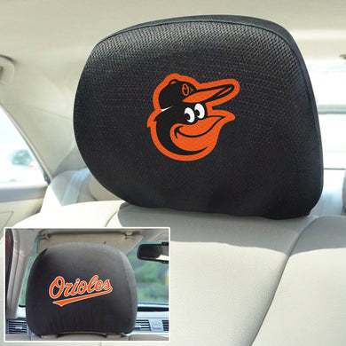Baltimore Orioles Set of 2 Headrest Covers