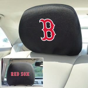 Boston Red Sox Set of 2 Headrest Covers