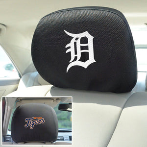 Detroit Tigers Set of 2 Headrest Covers