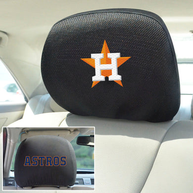 Houston Astros Set of 2 Headrest Covers