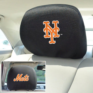 New York Mets Set of 2 Headrest Covers
