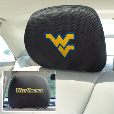 West Virginia Mountaineers Set of 2 Headrest Covers