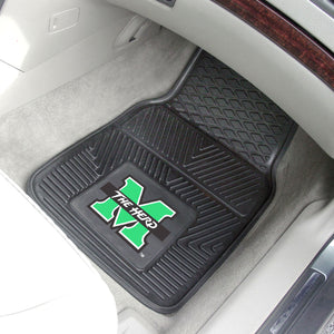 "Marshall Thundering Herd 2 Piece Vinyl Car Mats - 18""x27"""