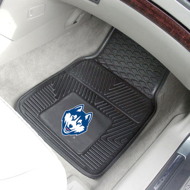 Connecticut Huskies 2 Piece Vinyl Car Mats - 18