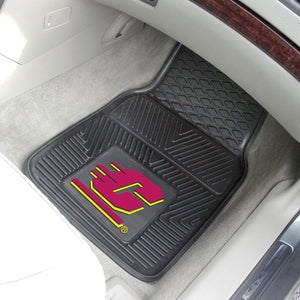 "Central Michigan Chippewas 2 Piece Vinyl Car Mats - 18""x27"""