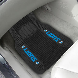 "Detroit Lions 2-piece Deluxe Car Mat Set 21""x27"""