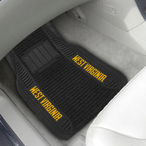 "West Virginia Mountaineers 2-piece Deluxe Car Mat Set 21""x27"""