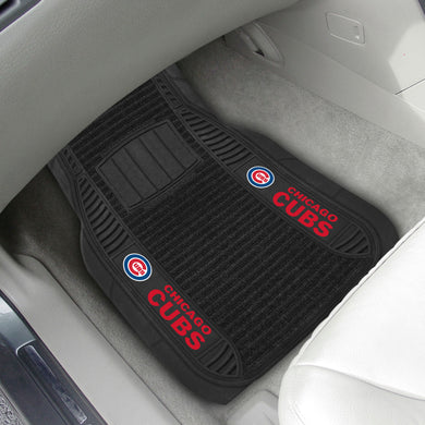 Chicago Cubs 2-pc Deluxe Car Mat Set - 21