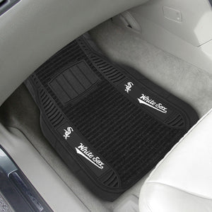 "Chicago White Sox  2-pc Deluxe Car Mat Set - 21""x27"""