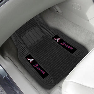 "Atlanta Braves 2-piece Deluxe Car Mat Set 21""x27"""