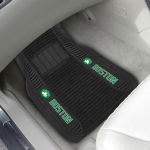 "Boston Celtics 2-piece Deluxe Car Mat Set 21""x27"""
