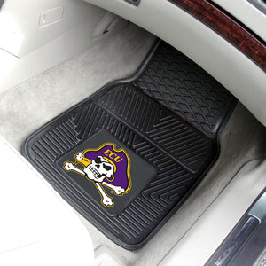 "East Carolina Pirates 2 Piece Vinyl Car Mats - 18""x27"""