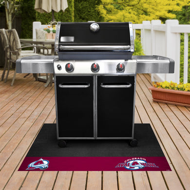 Colorado Avalanche Grill Mat 26