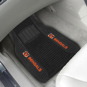 "Cincinnati Bengals 2-piece Deluxe Car Mat Set 21""x27"""