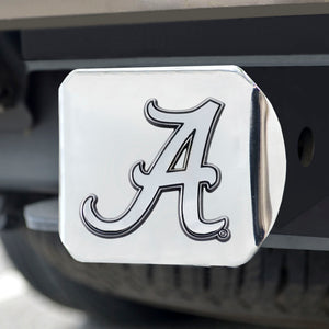 Alabama Crimson Tide Chrome Emblem On Chrome Hitch Cover