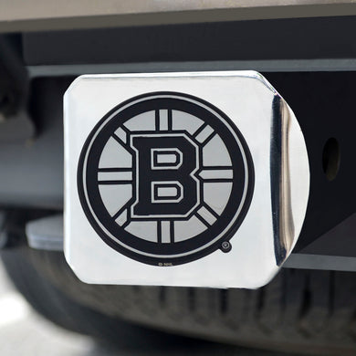 Boston Bruins Chrome Emblem On Chrome Hitch Cover