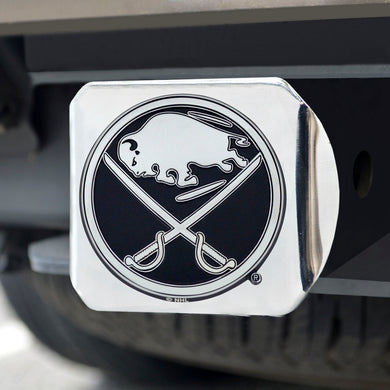 Buffalo Sabres Chrome Emblem On Chrome Hitch Cover