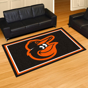 Baltimore Orioles Plush  Rug - 5'x8'