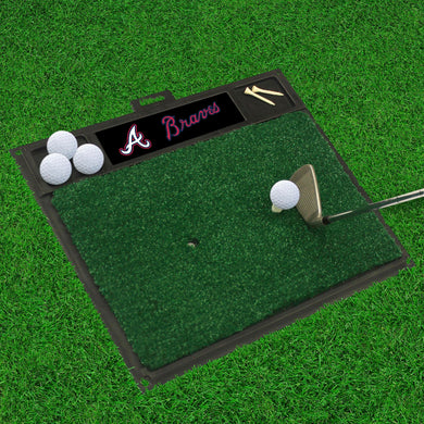 Atlanta Braves Golf Hitting Mat 20