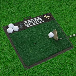 "San Antonio Spurs Golf Hitting Mat 20"" x 17"""
