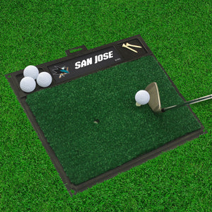 "San Jose Sharks  Golf Hitting Mat 20"" x 17"""