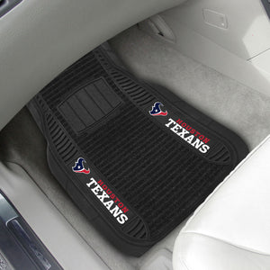 "Houston Texans 2-piece Deluxe Car Mat Set 21""x27"""