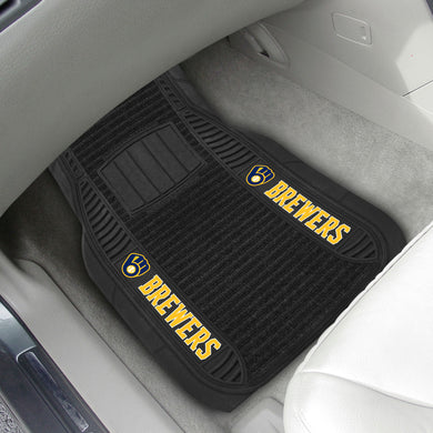 Milwaukee Brewers 2-pc Deluxe Car Mat Set - 21