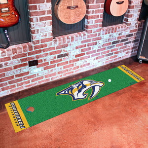 "Nashville Predators Putting Green Runner #2 18""x72"""