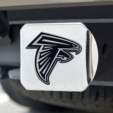 Atlanta Falcons Chrome Emblem on Chrome Hitch Cover