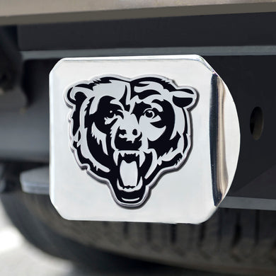 Chicago Bears Chrome Emblem on Chrome Hitch Cover