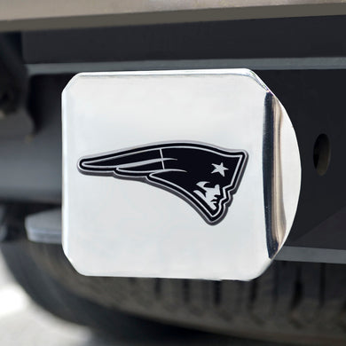 New England Patriots Chrome Emblem on Chrome Hitch Cover