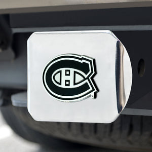 Montreal Canadiens Chrome Emblem On Chrome Hitch Cover